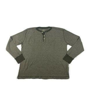 Woolrich Pullover Henley Shirt Long Sleeve Cotton